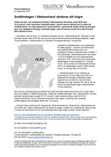Värdebarometern 2017 Västmanlands län