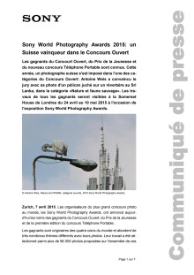 Communiqué de presse_Sony_SWPA Winner Open Category Switzerland_150407_F-CH