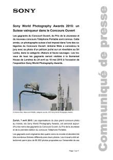 Communiqué de presse_Sony_SWPA Winner Open Category Switzerland_150407_F-CH