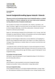 Svensk Fastighetsförmedling öppnar bobutik i Västerås