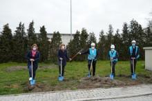 Spatenstich zum Glasfaser-Netzausbau im Gewerbegebiet in Sendenhorst