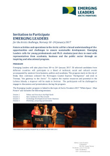 Invitation to Emerging Leaders 2017