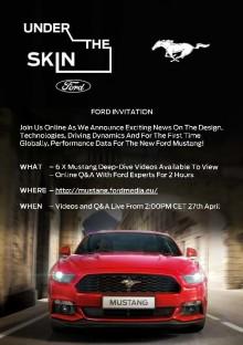 Velkommen til å delta på webinar (presentasjon på web) om nye Mustang mandag 27.04. kl. 14.00