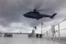 """Scandlines weiht Hubschrauberplattform auf dem Fährschiff """"Berlin"""" ein"""