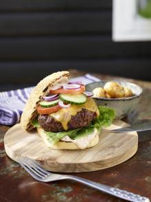 5 saftige burgere til Super Bowl