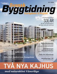 Nya numret av Svensk Byggtidning nr 1 2019 ute nu!