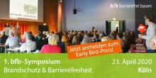 1. bfb-Symposium Brandschutz & Barrierefreiheit in Köln