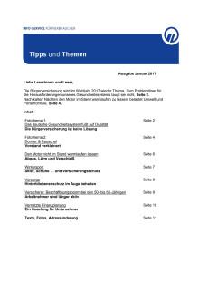 Tipps und Themen 1-2017