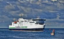 Scandlines' nye hybridfærge i drift