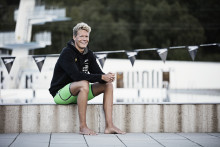 Making a splash in the swim world. Bluewater partners with emerging Swedish swim star