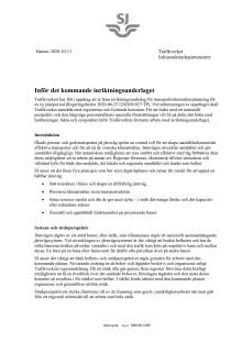 SJs bidrag till inriktningsunderlaget för nationell infrastrukturplan