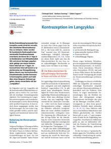 Kontrazeption im Langzyklus