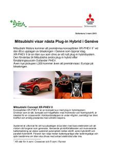 Mitsubishi visar nästa Plug-in Hybrid i Genéve
