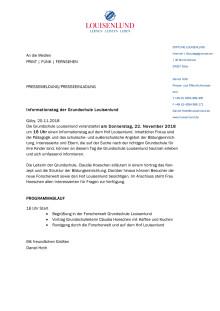 Informationstag der Grundschule Louisenlund