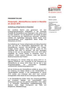 """Pilotprojekt """"Wertstofftonne startet in Wandlitz ab Januar 2019"""