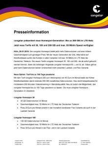 congstar präsentiert neue Homespot-Generation: Bis zu 200 GB im LTE-Netz