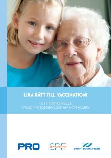 Lika rätt till vaccination - ett nationellt vaccinationsprogram för äldre 29 sept