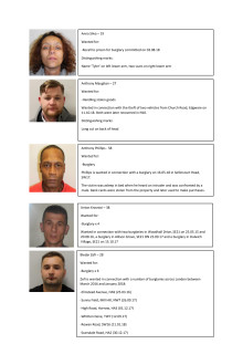 Details of the 'wanted people'