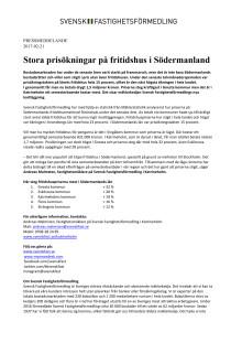 Stora prisökningar på fritidshus i Södermanland