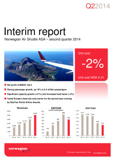 Norwegian Air Shuttle ASA – Second Quarter 2014 Interim Report