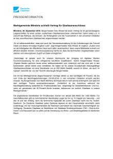 Marktgemeinde Mömbris schließt Vertrag für Glasfaseranschlüsse