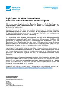 High-Speed für kleine Unternehmen
