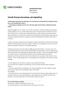 Umeå Energi storsatsar på algodling
