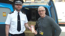 Food for police officers due to work LFC victory parade donated to Whitechapel Centre