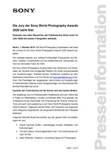 Die Jury der Sony World Photography Awards 2020 steht fest