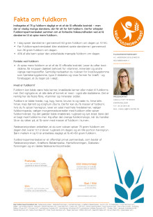 Faktaark om fuldkorn 2017