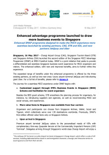 Enhanced advantage programme launched to draw more business events to Singapore