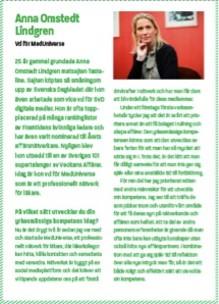 Anna Omstedt Lindgren, VD för läkarnätverket MedUniverse, i intervju om kompetensutveckling och nätverkande