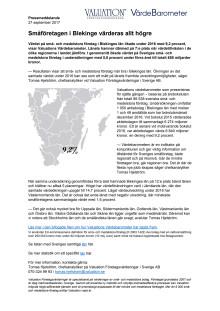 Värdebarometern 2017 Blekinges län