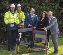 Paul Wheelhouse MSP visits the Scottish Borders to celebrate new fibre connection
