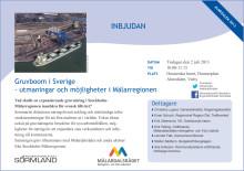 Inbjudan seminarium Almedalen 2 juli: Gruvboom i Sverige - utmaningar och möjligheter i Mälarregionen