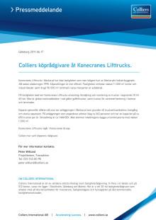 Colliers köprådgivare åt Konecranes Lifttrucks