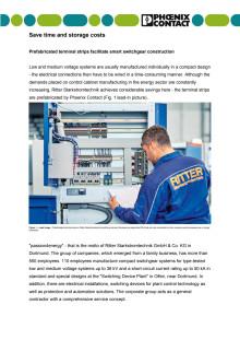 Prefabricated terminal strips facilitate smart switchgear construction