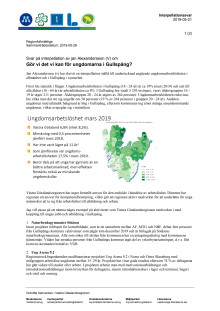 Interpellationssvar - Gör vi det vi kan för ungdomarna i Gullspång?