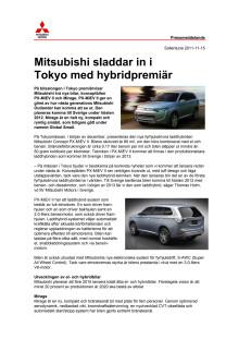 Mitsubishi sladdar in i Tokyo med hybridpremiär