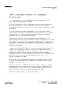 Patrik Steorn blir museichef för Göteborgs konstmuseum