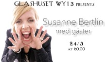 Susanne Bertlin med gäster live på Hellstens Glashus WY13 den 24 maj