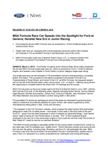 Ford MSA Race Car - Genève Motor Show