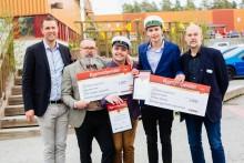 Stolta Bygmastipendiater på Stockholms byggtekniska gymnasium