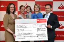 "Santander spendet 3 000 Euro an ""kidsvision germany"