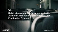 Satair signs commercial agreement with Aviation Clean Air on patented Ionization Purification System