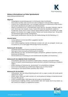 Faktenblatt zur Kieler Sprottenkarte mit Gastronomie