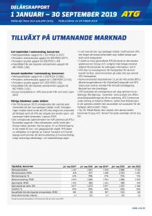 ATG Delårsrapport Q3 2019