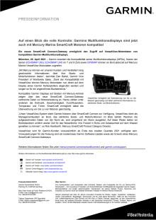 PM Garmin Mercury Marine SmartCraft