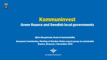 Kommuninvest presentation EU-kommissionen 3 december 2018