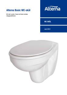 Alterna Basic WC-skål - Produktblad